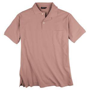 Redfield Basic Piqué Poloshirt rosa Übergröße