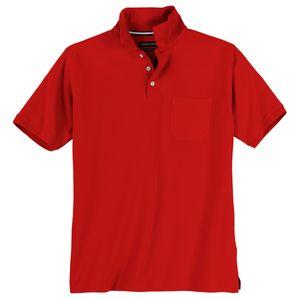 CasaModa Basic Poloshirt große Größen chilirot
