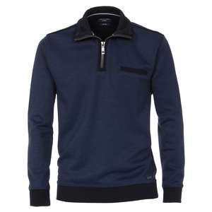 CasaModa Troyer-Sweatshirt blau große Größen