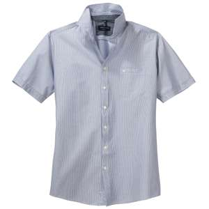 CasaModa Kurzarmhemd fein gestreift graublau-weiß XXL
