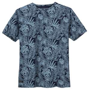 XXL North 56°4 Allsize Botanikprint T-Shirt blau