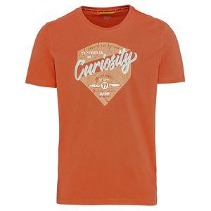 Camel Active T-Shirt Übergröße orange Vintageprint