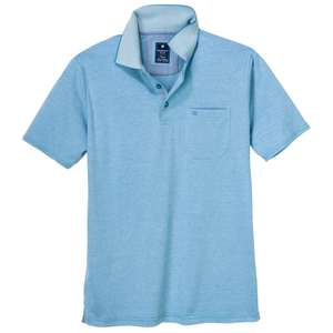 "Redmond ""Wash & Wear"" Polo türkisblau melange XXL"