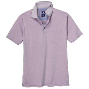 "Redmond ""Wash & Wear"" Polo flieder melange XXL"