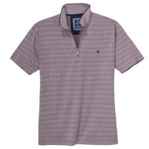 "Redmond ""Wash & Wear"" Polo geringelt lila melange XXL"
