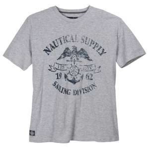 Redfield T-Shirt maritim hellgrau melange XXL