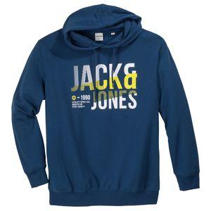 Jack & Jones Hoodie Logoprint blau XXL