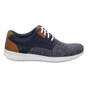 Jomos XXL Sneaker Strick-Leder-Mix Rogato navy/tuareg