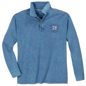 Redfield Langarm-Poloshirt Vintage modisch blau XXL