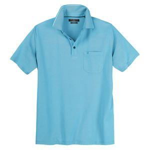 CasaModa XXL Poloshirt easy care aquablau melange