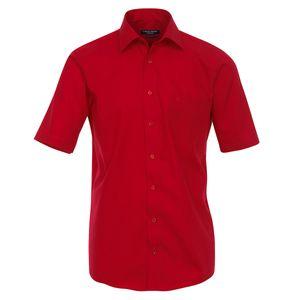 CasaModa Kurzarmhemd rot bügelfrei große Größen