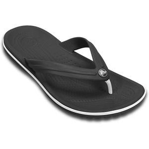 Crocs Flip Sandalen schwarz-weiß Übergröße Crocband™