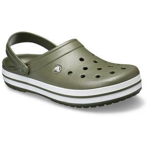 Crocs Clogs oliv-weiß große Größen Crocband™