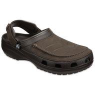 Crocs bequeme Yukon Clogs braun große Größen 001