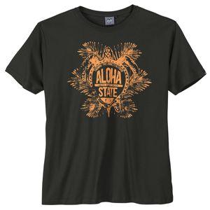 Ahorn Sportswear T-Shirt schwarz Aloha Print
