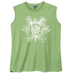 Ahorn Übergrößen Muskelshirt hellgrün Aloha Print