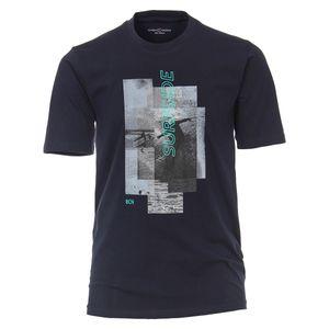CasaModa Fotoprint T-Shirt dunkelblau