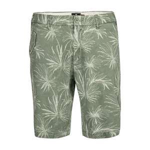 Replika by Allsize Chino-Shorts Palmenprint grün XXL