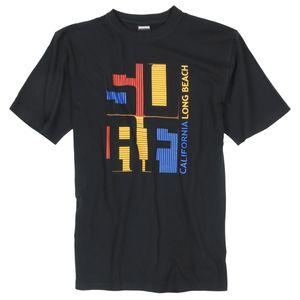 Motiv T-Shirt schwarz Adamo Fashion XXL
