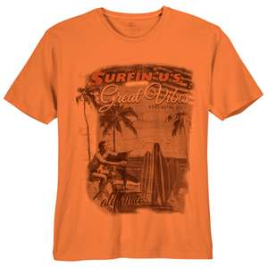 Kitaro T-Shirt orange Surfer-Print XXL