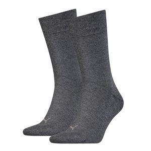 Puma 2er-Pack Socken Classic Piquee grau ohne Gummi