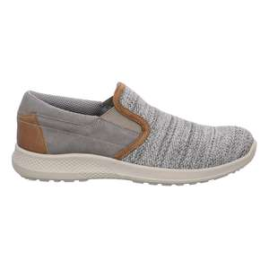 Jomos XXL Slipper Strick-Leder Campus smoke/tuareg