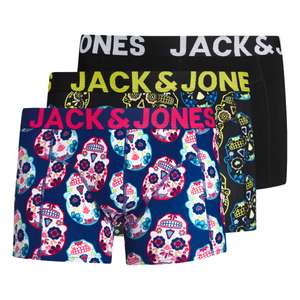 Jack & Jones 3er Trunks Skull gelb/schwarz/blau XXL