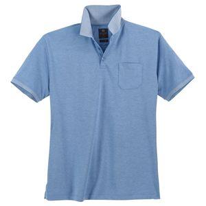 Kitaro XXL Poloshirt pflegeleicht hellblau melange