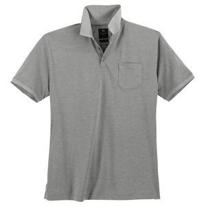 Kitaro Poloshirt pflegeleicht grau melange Übergröße