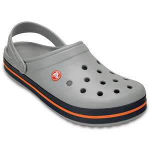 Crocs Clogs hellgrau-navy-orange Crocband™