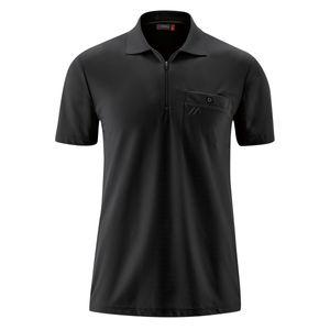 Maier Sports XXL Funktions-Zipper-Poloshirt schwarz