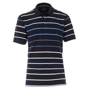 CasaModa gestreiftes Poloshirt dunkelblau Übergröße