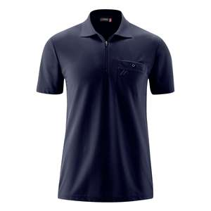 Maier Sports XXL Funktions-Zipper-Poloshirt navy