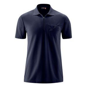Maier Sports Funktions-Poloshirt navy mit Reißverschluss