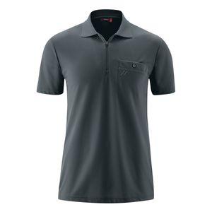Maier Sports XXL Funktions-Zipper-Poloshirt grau