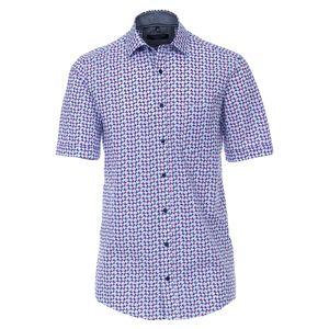 CasaModa Kurzarmhemd Übergröße Print blau-orange-pink