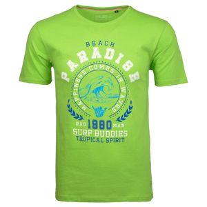 Ragman T-Shirt große Größen grün Print Beach Paradise