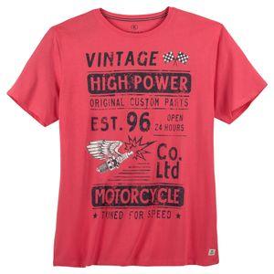 Kitaro T-Shirt große Größen beerenrot cooler Print