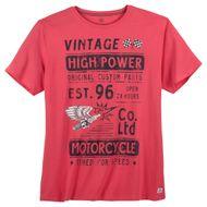 Kitaro T-Shirt große Größen beerenrot cooler Print 001