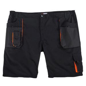 Abraxas Arbeits-Shorts schwarz große Größen
