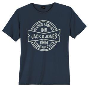 Jack & Jones T-Shirt große Größen navy Vintageprint