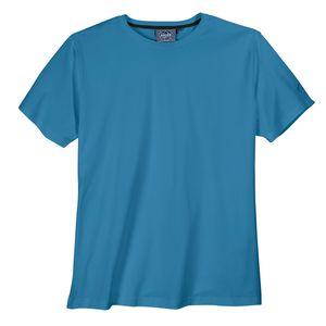 Basic T-Shirt Rundhals große Größen taubenblau Ahorn