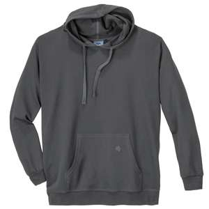 Basic Kapuzen-Sweatshirt Ahorn Übergröße dunkelgrau