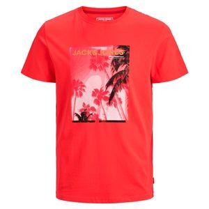 Jack & Jones T-Shirt rot mit coolem Fotoprint