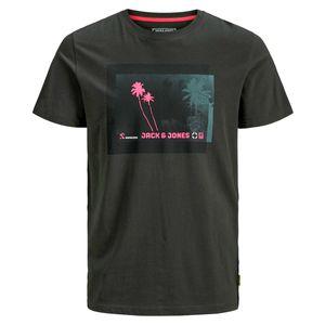 Jack & Jones T-Shirt Übergröße anthrazit Fotoprint
