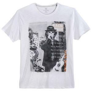 Kitaro Übergrößen T-Shirt weiß Fotoprint London Rock