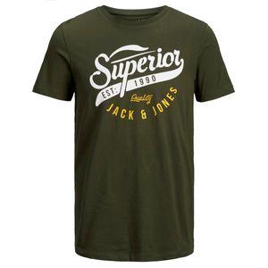 Jack&Jones T-Shirt mit Logoprint oliv