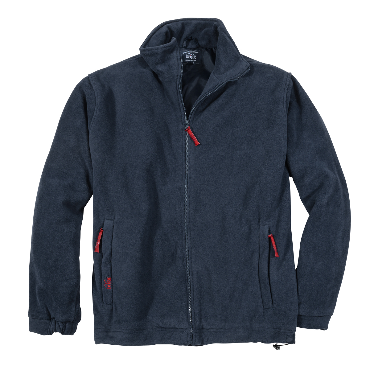 new product 15344 40f4d Brigg Fleecejacke in dunkelblau