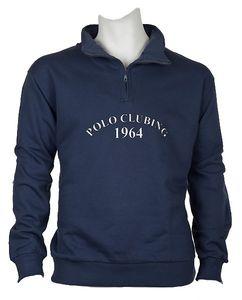 Troyer Sweatshirt Herren Übergröße blau-grau DAVE´S