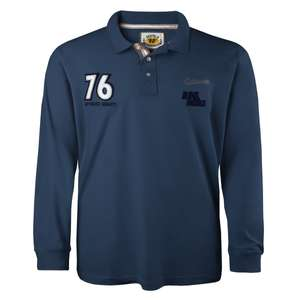 Blaues Polo-Langarmshirt Redfield